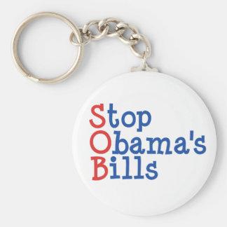 Pare las cuentas de Obama - de arruinar nuestro pa Llavero Redondo Tipo Pin