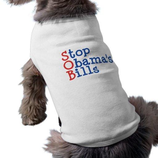 Pare las cuentas de Obama - de arruinar nuestro pa Playera Sin Mangas Para Perro