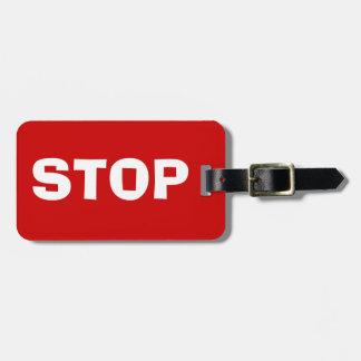 PARE las etiquetas rojas brillantes del equipaje Etiquetas De Equipaje