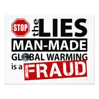Pare las mentiras sobre el calentamiento del plane comunicado