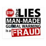 Pare las mentiras sobre el calentamiento del plane postal