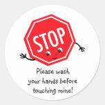 Pare lavan por favor al pegatina