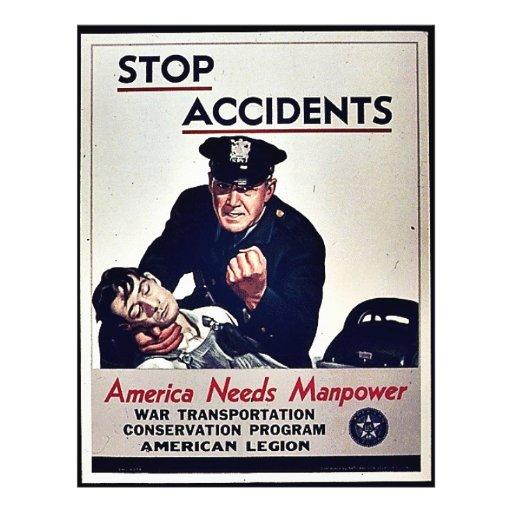 Pare los accidentes flyer a todo color