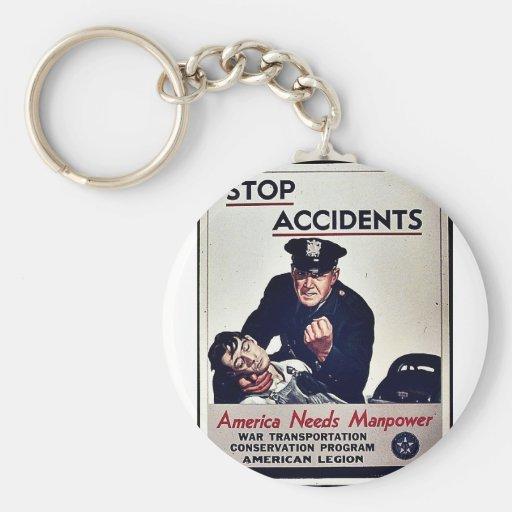 Pare los accidentes llavero