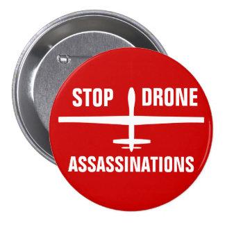 Pare los botones de los asesinatos del abejón pin redondo de 3 pulgadas