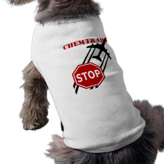 Pare los chemtrails playera sin mangas para perro