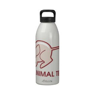 Pare los ensayos con animales botella de beber