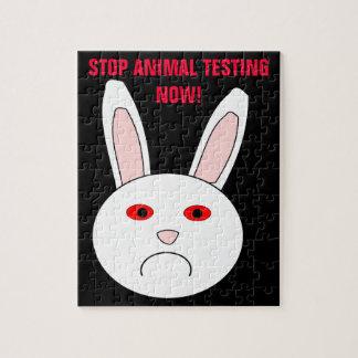 Pare los ensayos con animales ahora desconciertan puzzle con fotos