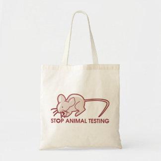 Pare los ensayos con animales bolsa