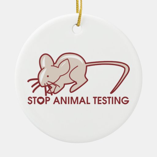 Pare los ensayos con animales adorno redondo de cerámica