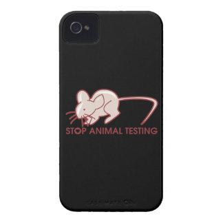 Pare los ensayos con animales iPhone 4 carcasas