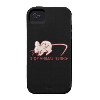 Pare los ensayos con animales iPhone 4/4S funda