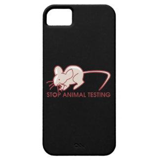 Pare los ensayos con animales iPhone 5 Case-Mate protectores