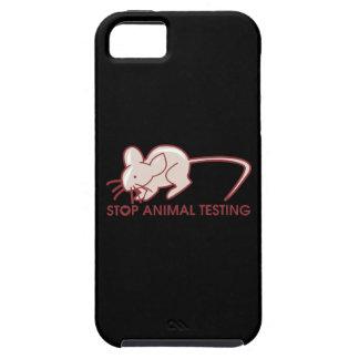 Pare los ensayos con animales iPhone 5 protector