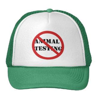 pare los ensayos con animales gorras de camionero