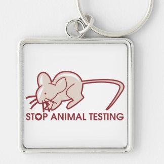 Pare los ensayos con animales llavero