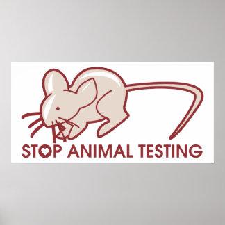 Pare los ensayos con animales poster