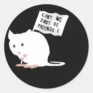 ¡Pare los ensayos con animales! Pegatina Redonda