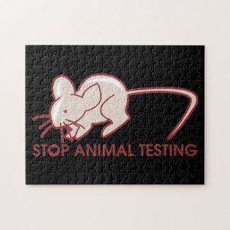 Pare los ensayos con animales puzzle