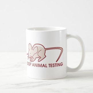 Pare los ensayos con animales tazas de café