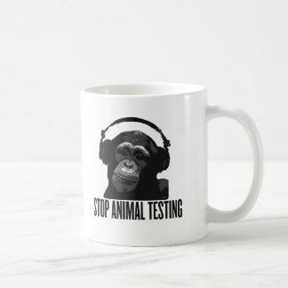 pare los ensayos con animales taza