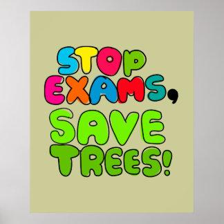 Pare los exámenes, árboles de la reserva poster