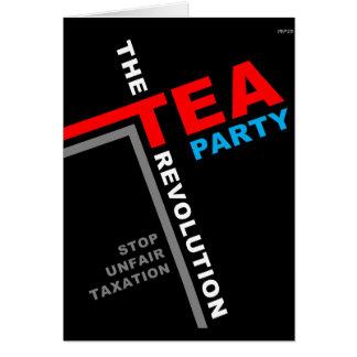 Pare los impuestos injustos tarjeta de felicitación
