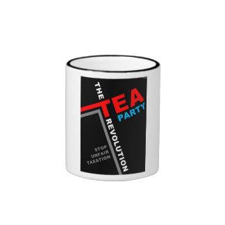 Pare los impuestos injustos taza de café