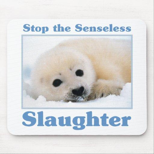 Pare los matanza-sellos alfombrilla de raton
