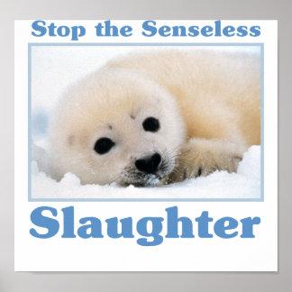 Pare los matanza-sellos póster