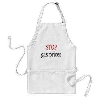 Pare los precios de la gasolina delantal