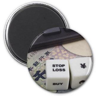 Pare los yenes japoneses de la pérdida imán redondo 5 cm