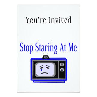 """Pare mirando fijamente mí la televisión invitación 5"""" x 7"""""""