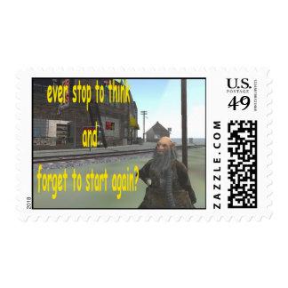 ¿pare nunca para pensar y para olvidar comenzar sello