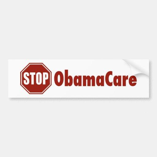 Pare ObamaCare Pegatina De Parachoque