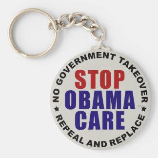 Pare Obamacare Llavero Redondo Tipo Pin