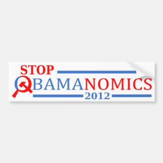 Pare Obamanomics 2012 Pegatina Para Auto