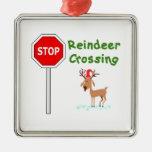 ¡PARE para el reno de Santa! Adorno De Reyes