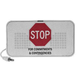 Pare para los compromisos y las contingencias la notebook altavoz