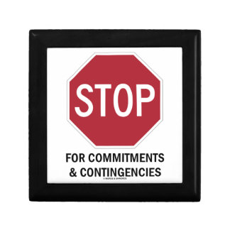 Pare para los compromisos y las contingencias la cajas de joyas