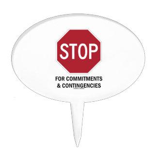 Pare para los compromisos y las contingencias (la figura para tarta