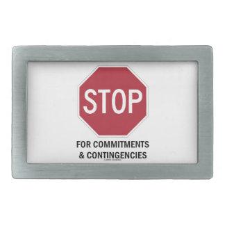 Pare para los compromisos y las contingencias la hebillas cinturon