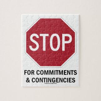 Pare para los compromisos y las contingencias la rompecabeza