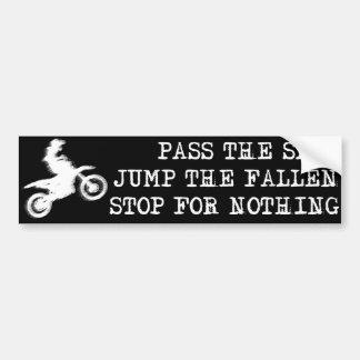 Pare para nada el parachoque Sticke del motocrós d Etiqueta De Parachoque
