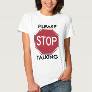 PARE por favor el hablar Playeras