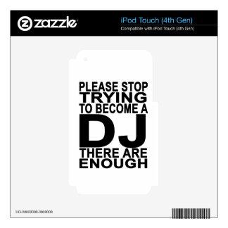 Pare por favor el intentar hacer las camisetas de skins para iPod touch 4G
