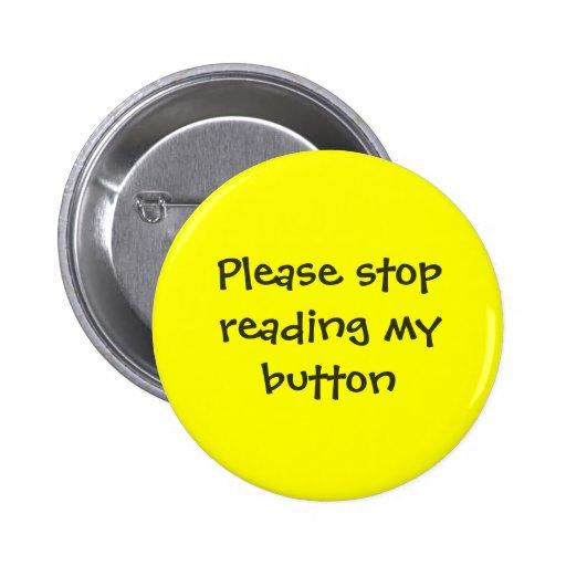 Pare por favor el leer de mi botón pin
