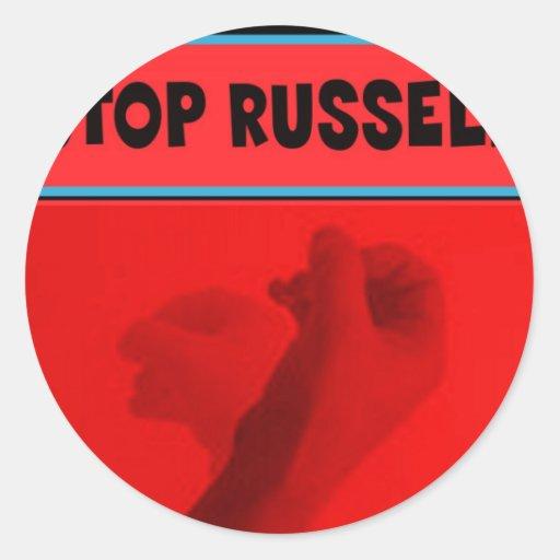 Pare Russell 2012 Pegatina Redonda