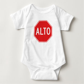 Pare, señal de tráfico, México Body Para Bebé