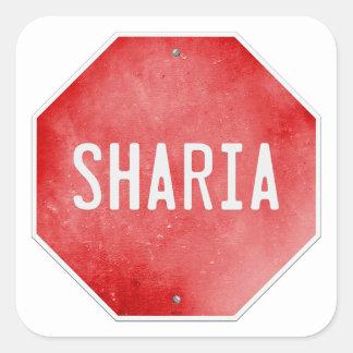Pare Sharia Calcomanías Cuadradass